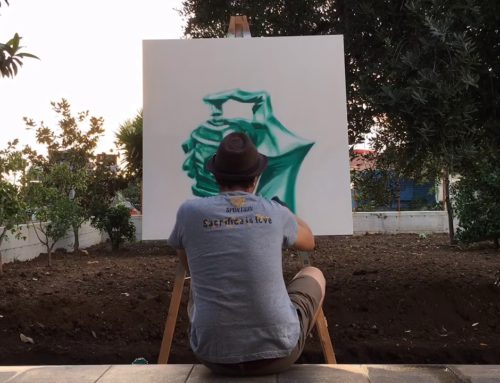 Graffiti hand – timelapse at home