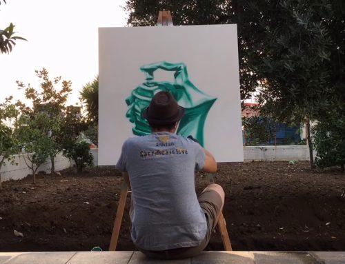 Graffiti hand – timelapse at home
