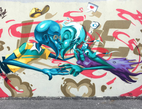 Love without distractions – new wall in Battipaglia